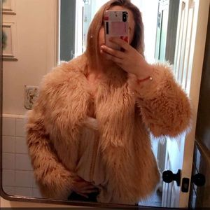 Light pink EXPRESS fur jacket